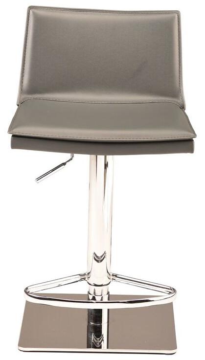 nuevo living palma adjustable stool grey leather