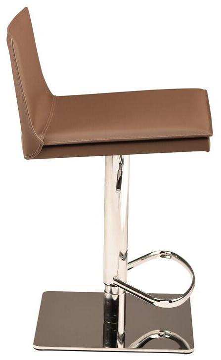 nuevo living palma adjustable stool mink leather