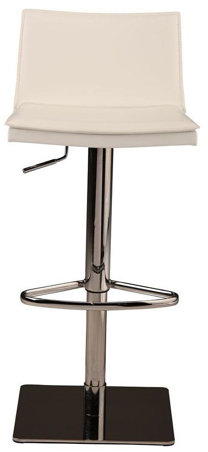 nuevo living palma adjustable stool white leather