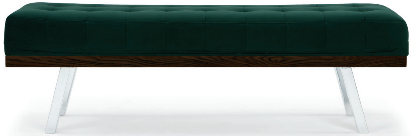 nuevo living rikard occasional bench emerald green
