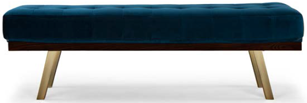nuevo living rikard occasional bench midnight blue