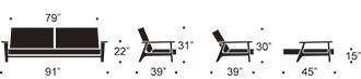 splitback frej sofa measurments