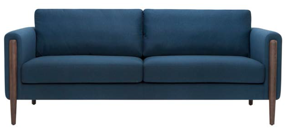 the new nuevo living steen three seater sofa in lagoon