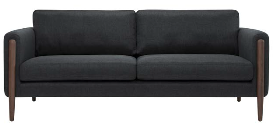 nuevo living steen three seater in steel grey