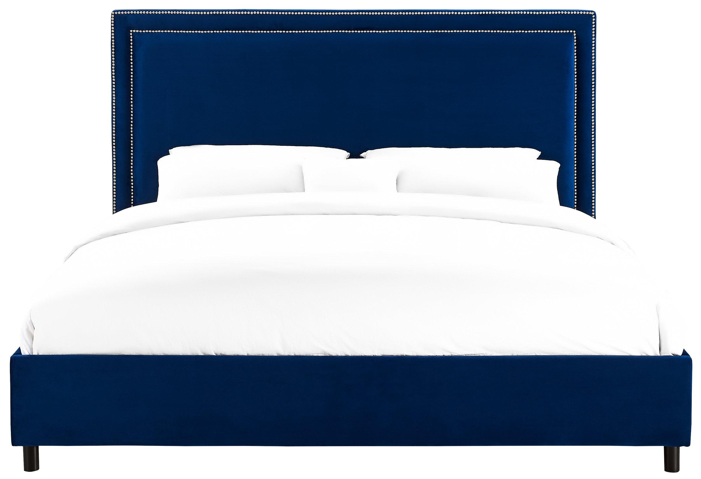 Velvet Navy TOV Bed