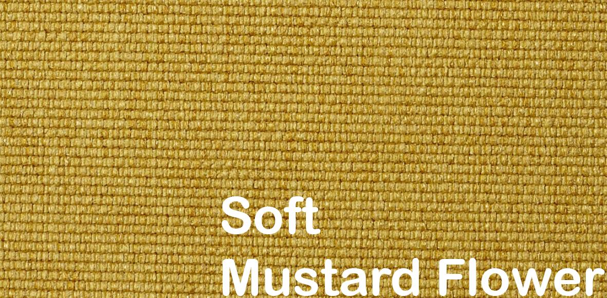 unfurl sovesofa 554 soft mustard flower