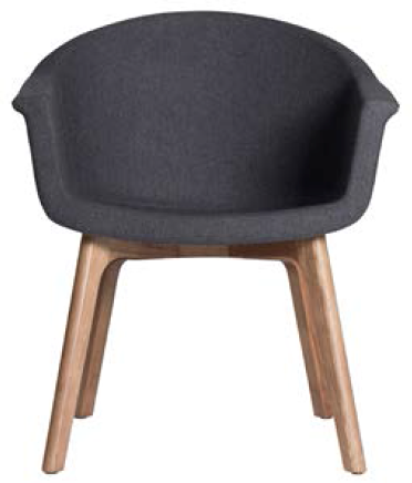 nuevo living vitale occasional chair black naugahyde