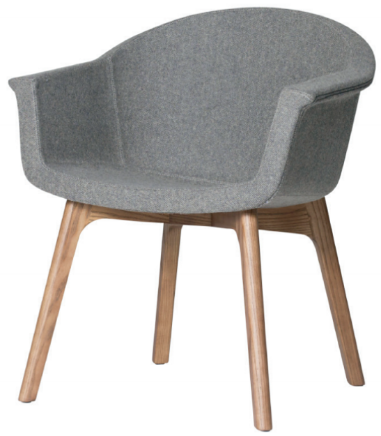 nuevo living vitale occasional chair grey fabric
