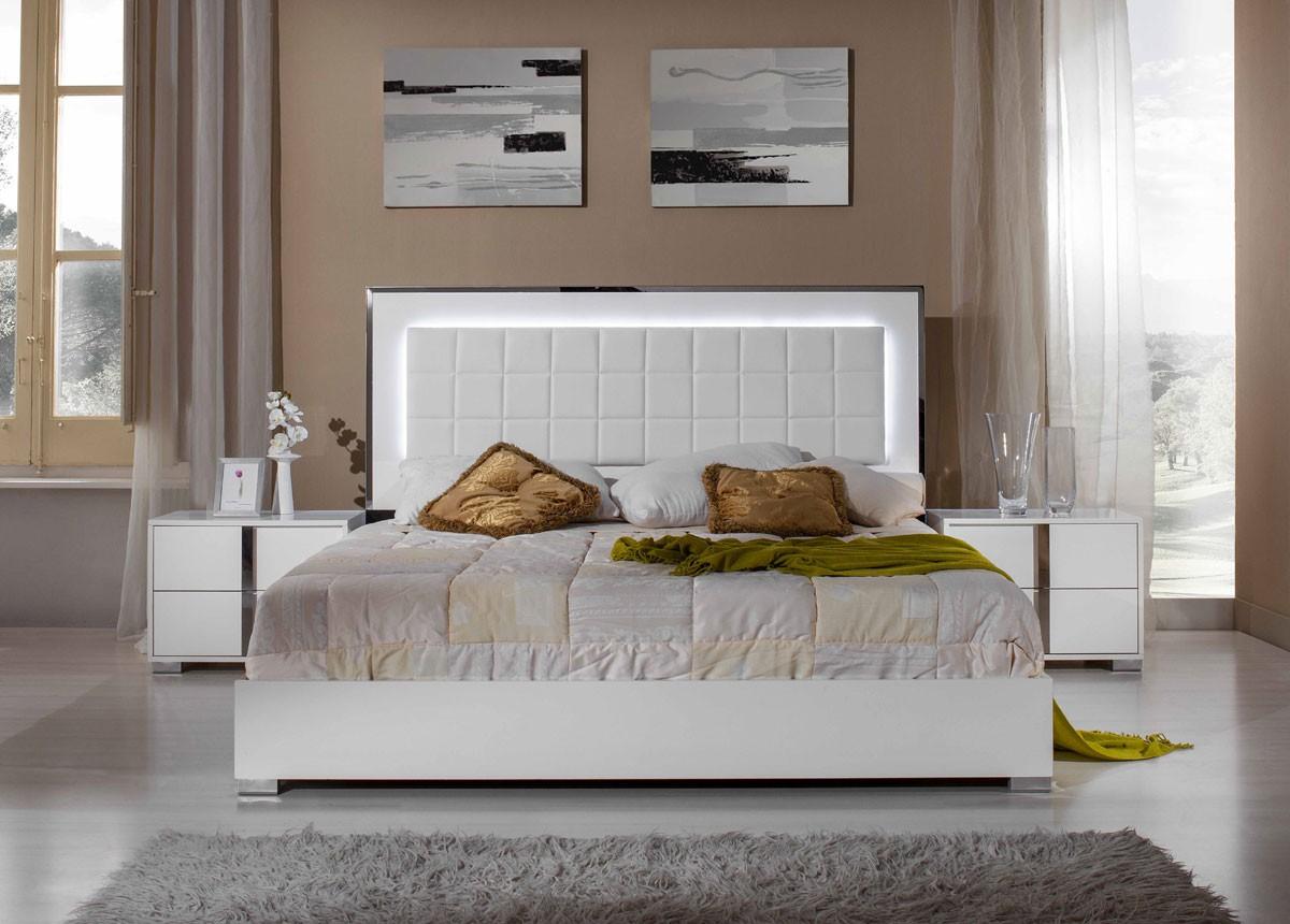 San Francisco 5pcs Modern White Bedroom Set